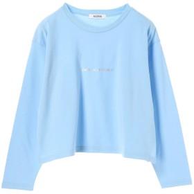 【5,000円以上お買物で送料無料】ラメプリントロゴロングTシャツ