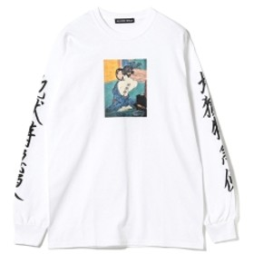 F-LAGSTUF-F / -Delivery Hells- 地獄特急便 Long Sleeve Tee メンズ Tシャツ WHITE S