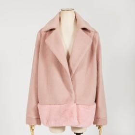ショートコート - JULIA BOUTIQUE 裾フェイクファー付きコート・ジャケット・アウター/510199