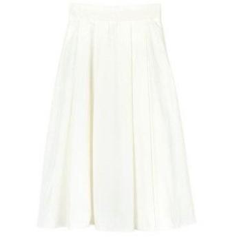 ユアーズ ur's カラータックフレアスカート (オフホワイト)