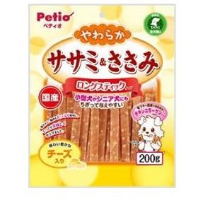 Petio/ペティオ  やわらかササミ&ささみ ロングスティックタイプ チーズ入り 200g