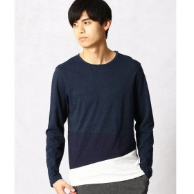 COMME CA MEN / コムサ・メン アシンメトリー カラーコンビTシャツ