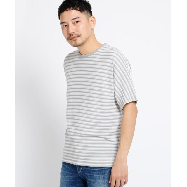 TAKEO KIKUCHI(タケオキクチ) ◆ドルマンスリーブ ボーダー Tシャツ