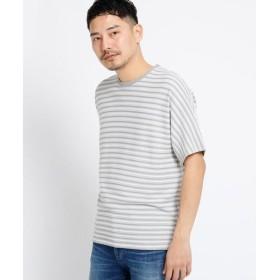 TAKEO KIKUCHI / タケオキクチ ドルマンスリーブ ボーダー Tシャツ
