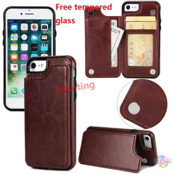 Leather shell With card IPhone X/8/8 PLUS/7/7 Plus 、 IPhone 6/6S/6 Plus/6S Plus/5/5S/SE