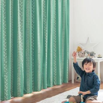 カーテン カーテン 裏面コーティングの遮光・遮熱・防音カーテン 「リーフ」