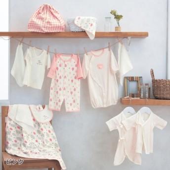 ベビー服 GITA(ジータ) 新生児肌着12点セット 「ピンク」