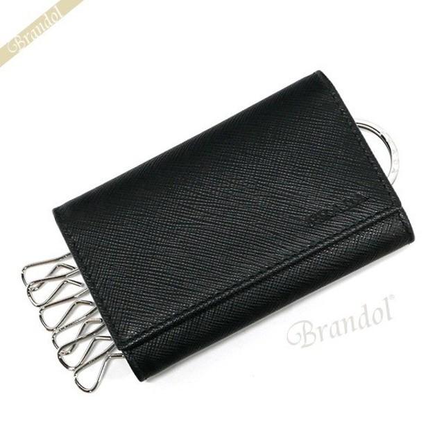c8519ab0d690 プラダ PRADA メンズ キーケース レザー カードポケット付 ブラック 2PG002 053 F0002 [在庫品