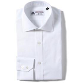 Brilla per il gusto / ドビー ワイドカラーシャツ(THOMAS MASON fabric) メンズ ドレスシャツ WHITE 38