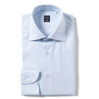 BEAMS F / ファインツイル ワイドカラーシャツ メンズ ドレスシャツ SAX/11 37