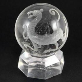 【天然石 彫刻置物】丸玉 水晶30mm (素彫り) 白虎 ※ネコポス不可※ パワーストーン