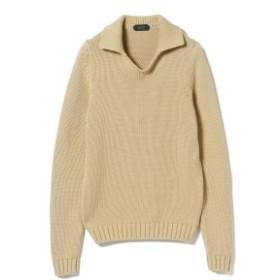 ZANONE / 3ゲージ スキッパー ポロシャツ メンズ ポロシャツ BEIGE/Z5093 44