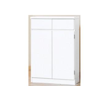 1cmピッチカウンター下収納 60幅 KUC-60(ホワイト) 幅60×奥行27×高さ87cm キッチン収納