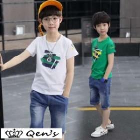 セットアップ 上下セット 女の子 ショットパンツ ハーフパンツ 半袖 tシャツ 韓国子供服 ジュニア 子供服 キッズ カットソー