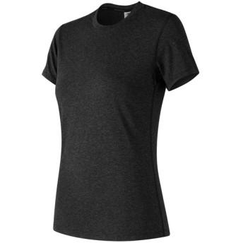 (NB公式)【ログイン購入で最大8%ポイント還元】 ウイメンズ ヘザーテック Tシャツ (ブラック) トレーニング スポーツウェア / トップス ニューバランス newbalance