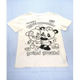c8ace69a86780 グラグラ GRAND GROUND Tシャツ 半袖 150cm 白系 くま パンダ トップス ジュニア 女の子 子供服 通販