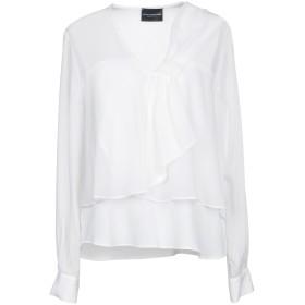 《期間限定セール開催中!》ATOS LOMBARDINI レディース シャツ ホワイト 46 アセテート 65% / シルク 35%