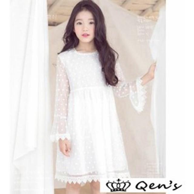 afa64bf6c860f 韓国子供服 女の子 ワンピースドレス dress ジュニア 通園 春着 長袖 通学 ワンピース ワンピ レース