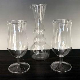 『Creema限定 夏の袋』耐熱ガラスのデキャンタ&ステムグラス 3点セット