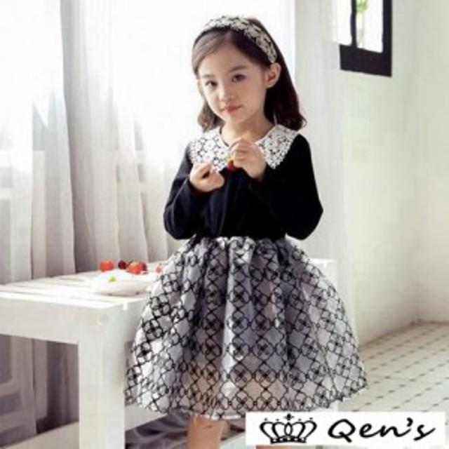 908c6357f87ee 子供服 長袖ワンピース 韓国子供服 入学式 入園式 演奏会 こどもドレス ...