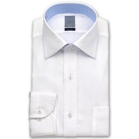 ワイシャツ - ワイシャツの山喜 LORDSON 長袖 ワイシャツ メンズ 春夏秋冬 形態安定加工 バイアスチェック白ドビーワイドカラーシャツ綿:100%ホワイト(zod394-200)