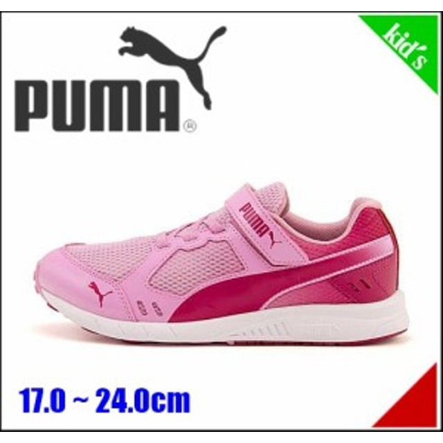 2775c6a71cf5b プーマ 女の子 キッズ 子供靴 スニーカー スピード モンスター V3 軽量 PUMA 190266 プリズムピンク ブライト