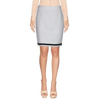 《セール開催中》BOUTIQUE MOSCHINO レディース ひざ丈スカート ホワイト 42 100% コットン