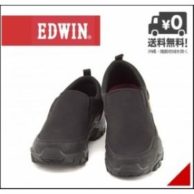 エドウィン EDWIN モック 防水 スニーカー メンズ カジュアルEDWIN EDM-9802 ブラック