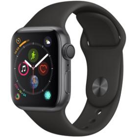 AppleApple Watch Series 4(GPSモデル)- 40mmスペースグレイアルミニウムケースとブラックスポーツバンドMU662J/A