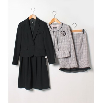 ジーラ 多様な着こなし2ジャケットフェミニン5点セット レディース ピンク 7 【GeeRa】