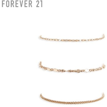 FOREVER21 フォーエバー21 【チェーンブレスレットセット】(5,000円以上購入で送料無料)