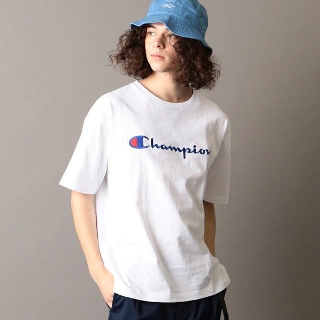 [マルイ]【セール】SHIPS JET BLUE×Champion: 別注 ヘビーウエイト リラックス 刺繍ロゴTシャツ/シップス ジェットブルー(SHIPS JET BLUE)