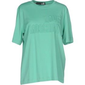 《期間限定 セール開催中》LOVE MOSCHINO レディース T シャツ ライトグリーン 44 コットン 100%