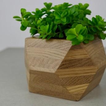 green pot 植物 2号鉢 プランター ウッド グリーン 無垢材