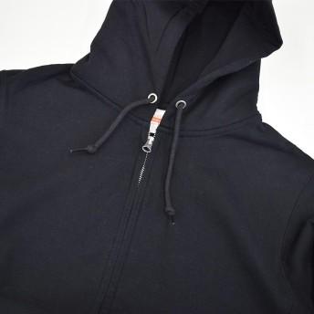 パーカー - terracotta 厚手 裏起毛 パーカー フルジップパーカー 長袖 フード付き 無地 12.7オンス レディース トップス スウェット アウターシンプル ヘヴィーウェイト 綿100% コットン ジップアップ パーカ 黒 ブラック S M