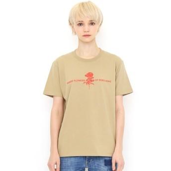[マルイ] 【ユニセックス】ベーシックTシャツ/ラインドローイングフラワーズ/グラニフ(graniph)