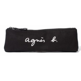 アニエスべー ポーチ ペンケース ロゴ ブラック agnes b