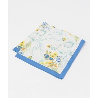 【オンワード】 any SiS(エニィスィス) 【洗える】ボタニカルフラワースカーフ スカイブルー 2 レディース 【送料無料】