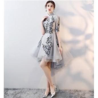 チャイナドレス ワンピース ドレス チャイナ服 パーティー 中国ドレス レディース 中国風 二次会 結婚式 披露宴 謝恩会 お呼ばれ ステージ衣装 大きいサイズ 中華着物 上品 優雅 着や