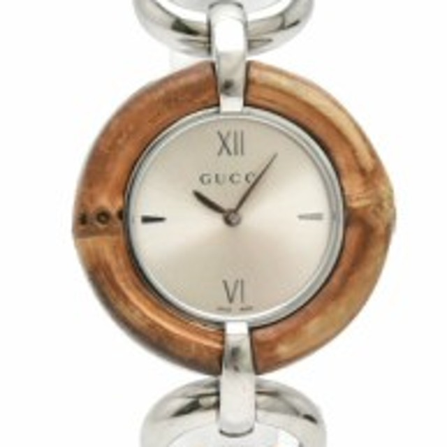 9328e1eee8bf 【ウォッチ】 グッチ シルバー文字盤 SS バンブー レディース QZ クォーツ 腕時計 132.4 YA132402