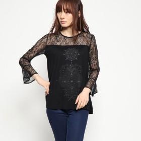 デシグアル Desigual Tシャツ長袖 (グレー/ブラック)