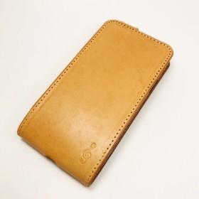 縦開き 【 iPhone xs用 】ヌメ革 手帳型 スマホケース