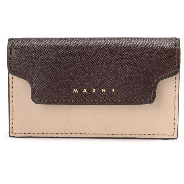 MARNI マルニ マルニ TRUNK マルチカラーカードケース カードケース,ライトキャメル