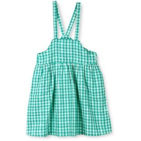 【55%OFF】 ブランシェス ギンガムチェックジャンパースカート(90~150cm) レディース グリーン 100cm 【branshes】 【タイムセール開催中】