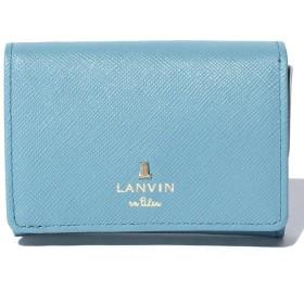 ランバンオンブルー(バッグ) リュクサンブールカラー 3つ折り財布 レディース ブルー F 【LANVIN en Bleu(BAG)】