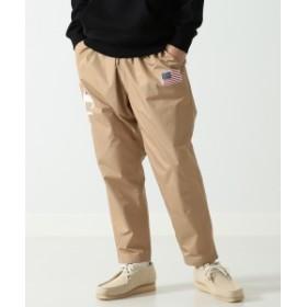 Champion × BEAMS / 別注 ロング パンツ メンズ カジュアルパンツ BEIGE S