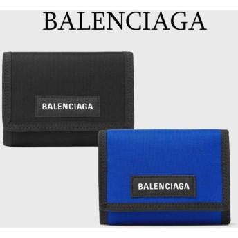 バレンシアガ BALENCIAGA  エクスプローラー ロゴ ナイロン素材 三つ折り財布
