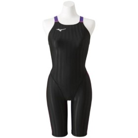 MIZUNO SHOP [ミズノ公式オンラインショップ] 競泳用ハーフスーツ[ジュニア] 98 ブラックxバイオレット N2MG8426