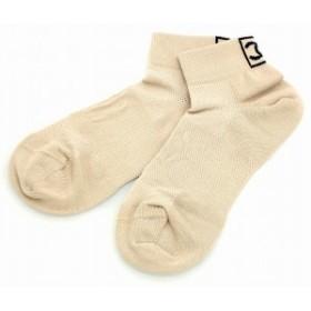 【アパレル】 シャネル ソックス 靴下 ショートソックス ココマーク ベージュ ブラック 黒