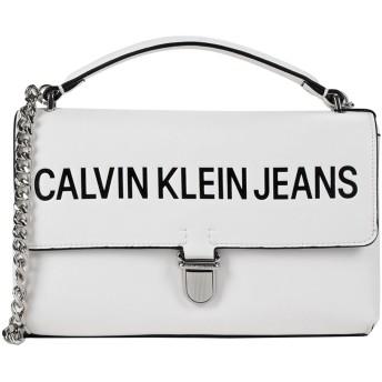 《期間限定セール開催中!》CALVIN KLEIN JEANS レディース メッセンジャーバッグ ホワイト ポリウレタン 100%